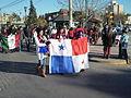 Grupo de panameños en Trelew, Argentina.JPG