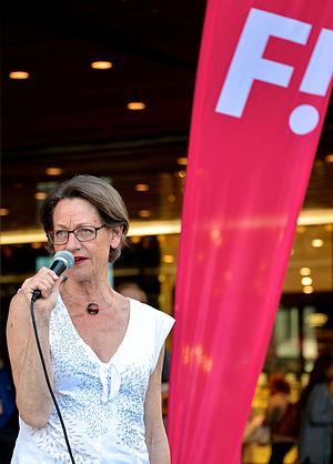 Gudrun Schyman, före detta partiledare för vän...