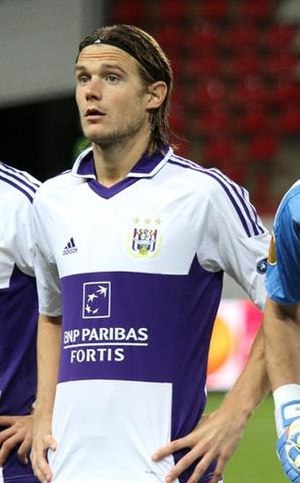 Guillaume Gillet - Gillet with Anderlecht during 2011.