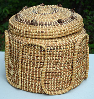 Gullah/Geechee Cultural Heritage Corridor -  Sweetgrass basket made by the Gullah culture of coastal Georgia or South Carolina