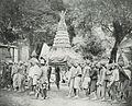 Gunungan with men in Yogyakarta, Kota Jogjakarta 200 Tahun, plate after page 48.jpg