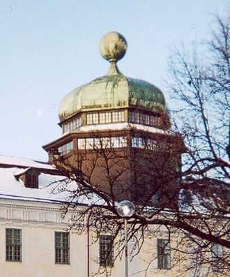 Anatomical theatre - Detail of Gustavianum in Uppsala, showing the cupola housing the anatomical theatre from 1663