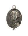 Hängsmycke i silver föreställande drottning Maria Eleonora, 1631 - Hallwylska museet - 110346.tif