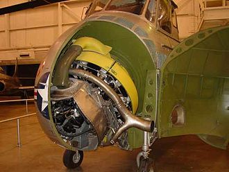 Pratt & Whitney R-1340 radial mounted in Sikorsky H-19 helicopter H19 showing engine.jpg