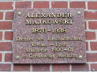 Aleksander Majkowski - Plaque of Aleksander Majkowski in Greifswald, Germany