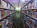 HK 藍田綜合大樓 Lam Tin Complex 藍田公共圖書館 Public Library interior bookshelves June 2014 Ip4.jpg