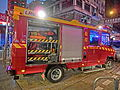 HK Cheung Sha Wan Night Cheung Wah Street Un Chau Street traffic accident rescue red fire station car Nov-2013.JPG