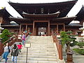 HK NLG 南蓮園池 Nan Lian Garden 天王殿 Hall of Celestial King front entrance stairs visitors Mar-2016 DSC.JPG