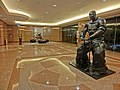 HK TST Harbour City office 英國保誠保險大樓 Prudential Tower night lift lobby hall interior sculpture 9-Apr-2013.JPG