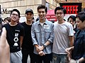 HK cwb 銅鑼灣 Causeway Bay 記利佐治街 Great George Street singer 林奕匡 Phil Lam n friends April 2018 LGM 04.jpg