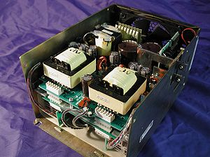 A 1 kW Xenon Short-Arc Lamp Power Supply with the cover removed.