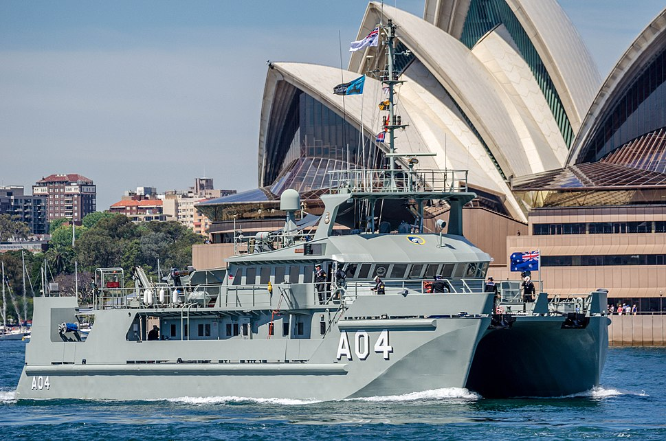 HMAS Benalla (A 04) at IFR