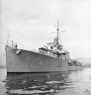 HMAS Stuart Sydney 1944 AWM 301350