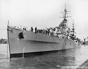 History of the Royal New Zealand Navy - The light cruiser HMNZS ''Black Prince''