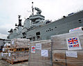 HMS Illustrious Picking up Humanitarian Aid for the Philippines MOD 45156476.jpg