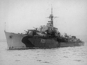 HMS Verulam (R28) - Image: HMS Verulam 1943 IWM FL 5479