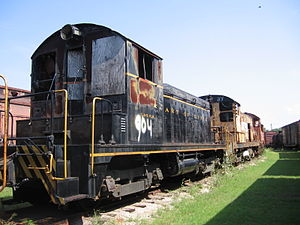 EMD SW1 - An SW1 at the Heart of Dixie Railroad Museum in Calera, Alabama.