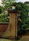 Slot Haamstede: inrij en keermuur
