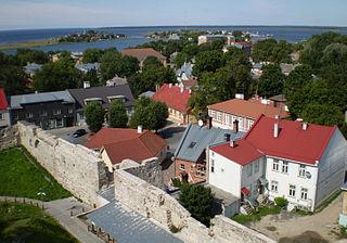 Haapsalu Town in Lääne, Estonia