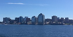 Downtown Halifax as from Halifax Harbour