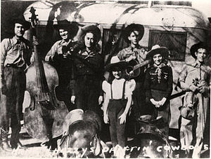 Drifting Cowboys - Image: Hank Williams and the Driftin' Cowboys, 1938