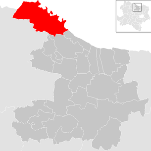 Location of the municipality of Hardegg (Lower Austria) in the Hollabrunn district (clickable map)