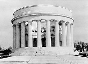 Harding Tomb - Harding Memorial shortly after completion
