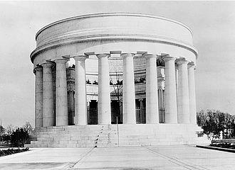 Harding Tomb - Harding Memorial shortly after completion