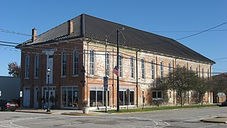 Harlan Hall historic opera house in Marshall, Illinois
