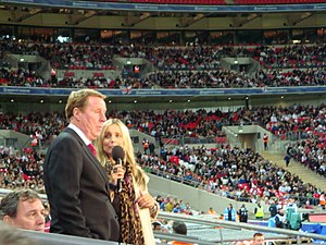 Harry Redknapp - Redknapp interviewed by daughter-in-law Louise Redknapp during Soccer Aid 2008.
