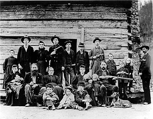 Hatfield–McCoy feud - The Hatfield clan in 1897