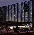 Hauptbahnhof Muenchen Haupteingang mit Weihnachtsbeleuchtung.JPG