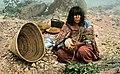 Havasupai woman weaving basket (NBY 9384) (cropped).jpg