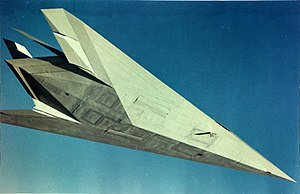 Lockheed Have Blue - Underside view of Have Blue