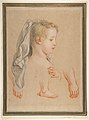 Head of a Young Girl and Studies of Hands and of her Right Foot MET DP811930.jpg