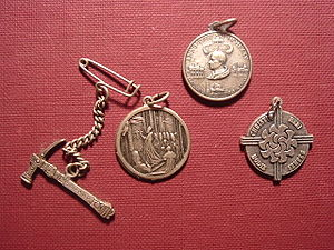 Jubilee (Christianity) - Souvenirs, the first two dated 1950, third one 1975, and the last one 2000