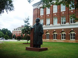 Oklahoma State University–Stillwater - Statue of Henry G. Bennett near Library Lawn at OSU