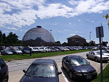 The Desert Dome Imax Building And Parking Area At Henry Doorly Zoo Aquarium