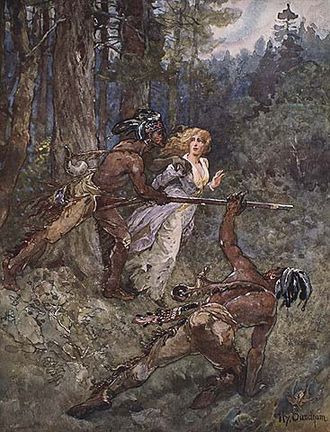 Battle of Beaver Dams - Laura Secord escorted to the British outpost by Mohawk warriors.