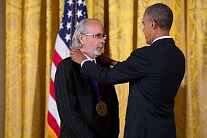 Herb Alpert - Alpert being awarded the National Medal of Arts by President Obama in 2013