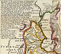 Herman Moll. Persia, Caspian Sea, part of Independent Tartary. 1736. Caucasua.jpg