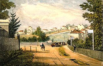 Herne Hill - Herne Hill and Half Moon Lane in 1823.