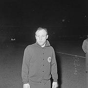 Het West-Duitse elftal zoals dat tegen Nederland zal uitkomen, Uwe Seeler (kop), Bestanddeelnr 918-9578