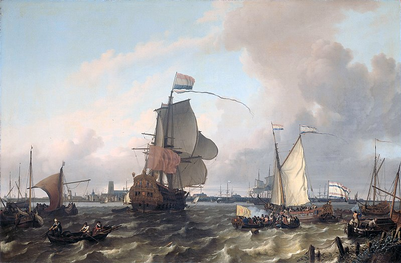 File:Het oorlogsschip 'Brielle' op de Maas voor Rotterdam - The warship 'Brielle' on the Maas before Rotterdam (Ludolf Backhuysen, 1689).jpg