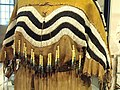 Hide dress with striped yoke dipping to frame deer tail (detail), Blackfoot, Alberta or Montana, c. 1890 - Royal Ontario Museum - DSC00329.JPG