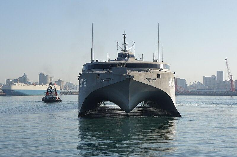 File:High Speed Vessel (HSV) 2 Swift pulls into Durban Harbor.jpg