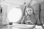 Hillary Rodham Clinton on plane using Game Boy (11).jpg