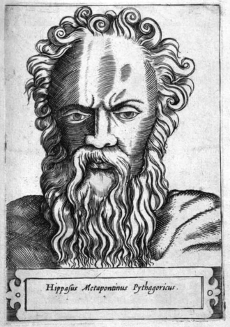 Hippasus - Hippasus, engraving by Girolamo Olgiati, 1580