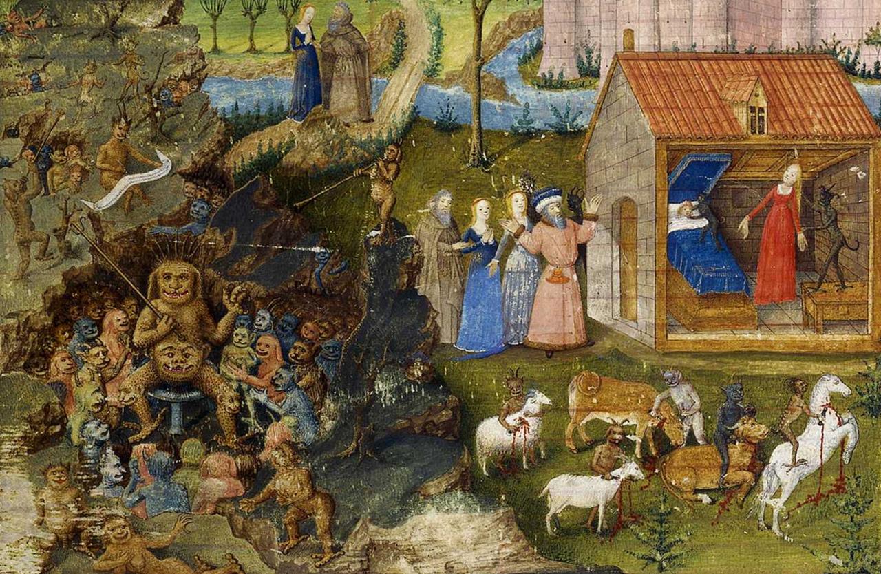 تولد نامقدس مرلین ، توسط ژان کلمب در قرن 16