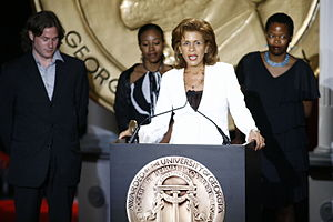 "Hoda Kotb - Hoda Kotb, Monica Groves and Shayla Harris accepting the award for ""Dateline NBC: The Education of Ms. Groves"" at the 66th Annual Peabody Awards Luncheon"